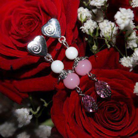серьги романтика агат ручнаяработа нежность подарок