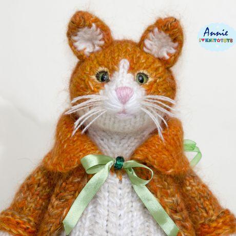 вязанаяигрушка ручная_работа вязаныйкот котик сувенир вязаный_котик подарок
