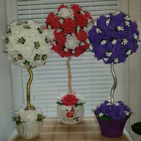 девушки ручная праздник для розы работа цветы топирий подарок
