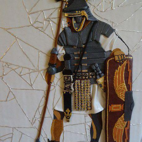 древнийрим мозаикаизкожи легионер