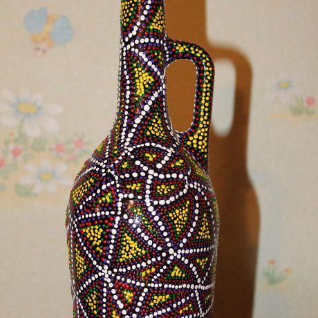 декорированнаябутылка бутылка подаркиручнойработы коллекционирование росписьбутылки предметыинтерьера точечнаяроспись декор