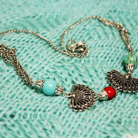 этника цепочка шея рука украшение браслет ручнаяработа бохо колье говлит кулон камни коралл подарок