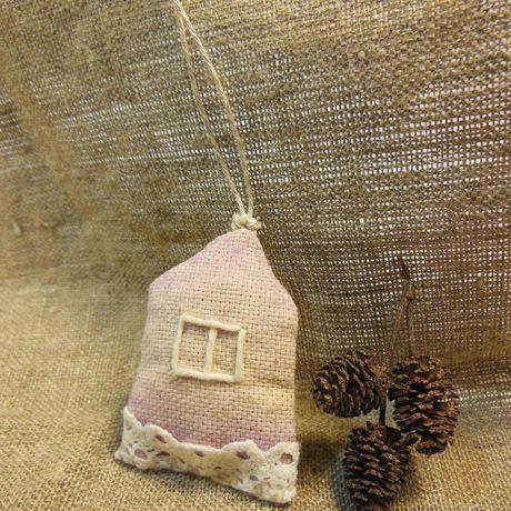 натуральное домики хлопковое украшения подвески