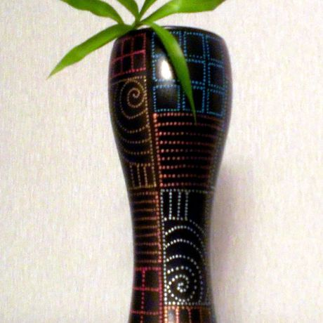 декоративнаяваза узоры декоративнаятарелка блюз тарелка точечнаяроспись handmade ваза декор ручнаяработа цветы подарок