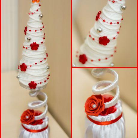 хэнд-мейд елочка декор бусинки творчество нитки подарок красивые