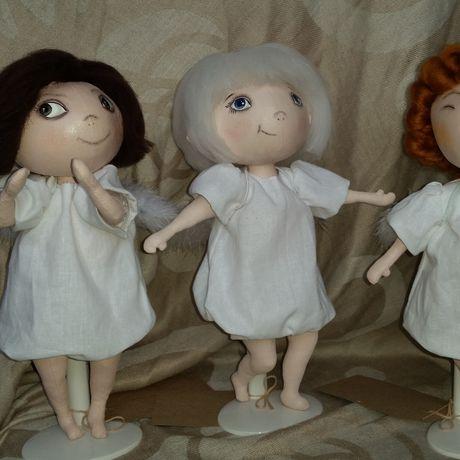 работы кукла ручной ангел текстильная