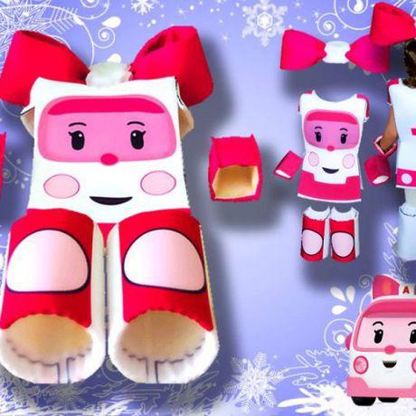 робот герои карнавальные сублимация фотопечать костюмы печать эмбер трансформер сублимационная робокар новый одежда детская праздник креатив детям продажа купить новогодние костюм год розовый