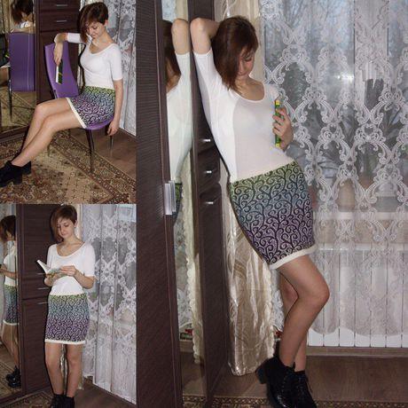 одежда трикотаж вязанная ручная юбка шерсть работа оригинальный подарок