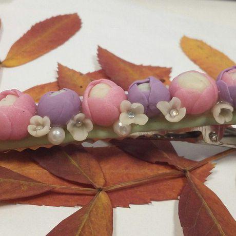заколка причёска розы полимернаяглина свадебнаяпричёска заколканаволосы заколкасцветами цветочнаязаколка заколкасрозами красиваязаколка аксессуарывпричёску