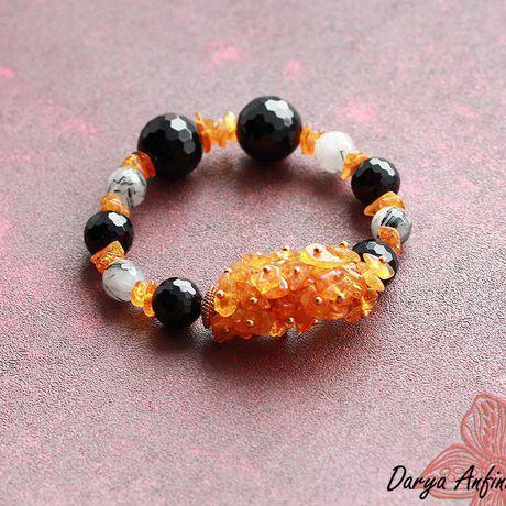 украшение браслет ручная хэндмейд натуральные камни