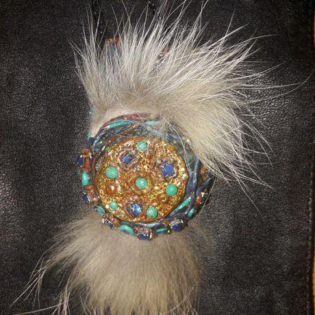 кулон лисы амует своими полимерная талисман глина брошь оберег мех хендмейд руками украшения браслет