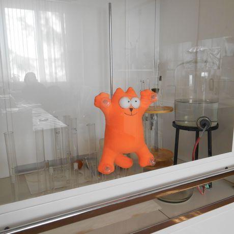 дляавто котсаймона игрушкаизфлиса наприсосках рыжийкот кот мягкаяигрушка