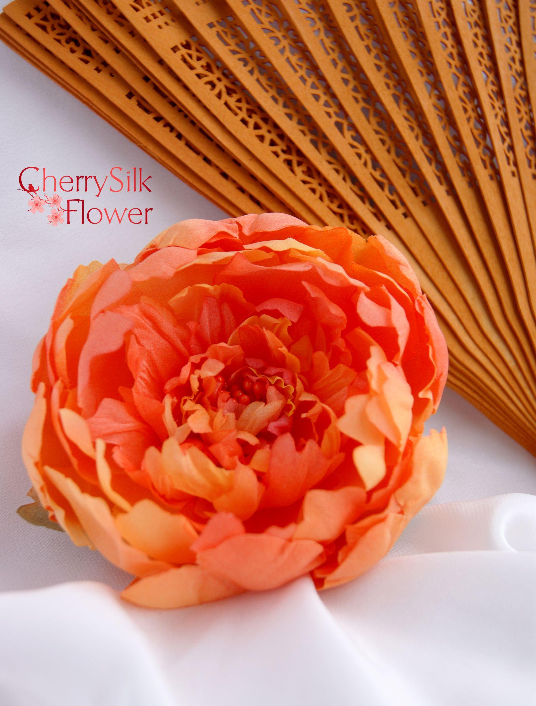 аксессуарыизшелка цветыизткани цветыизшелка пион украшенияручнойработы цветы