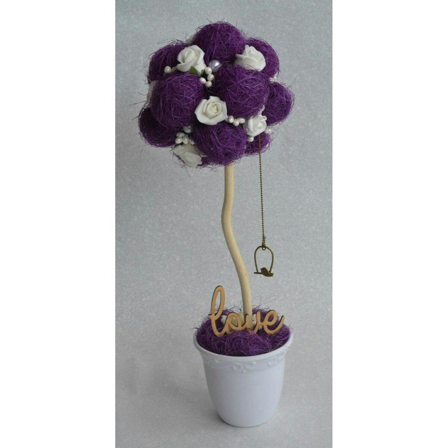 сюрприз морскойстиль деревосчастья топиарий букет прованс цветы подарок