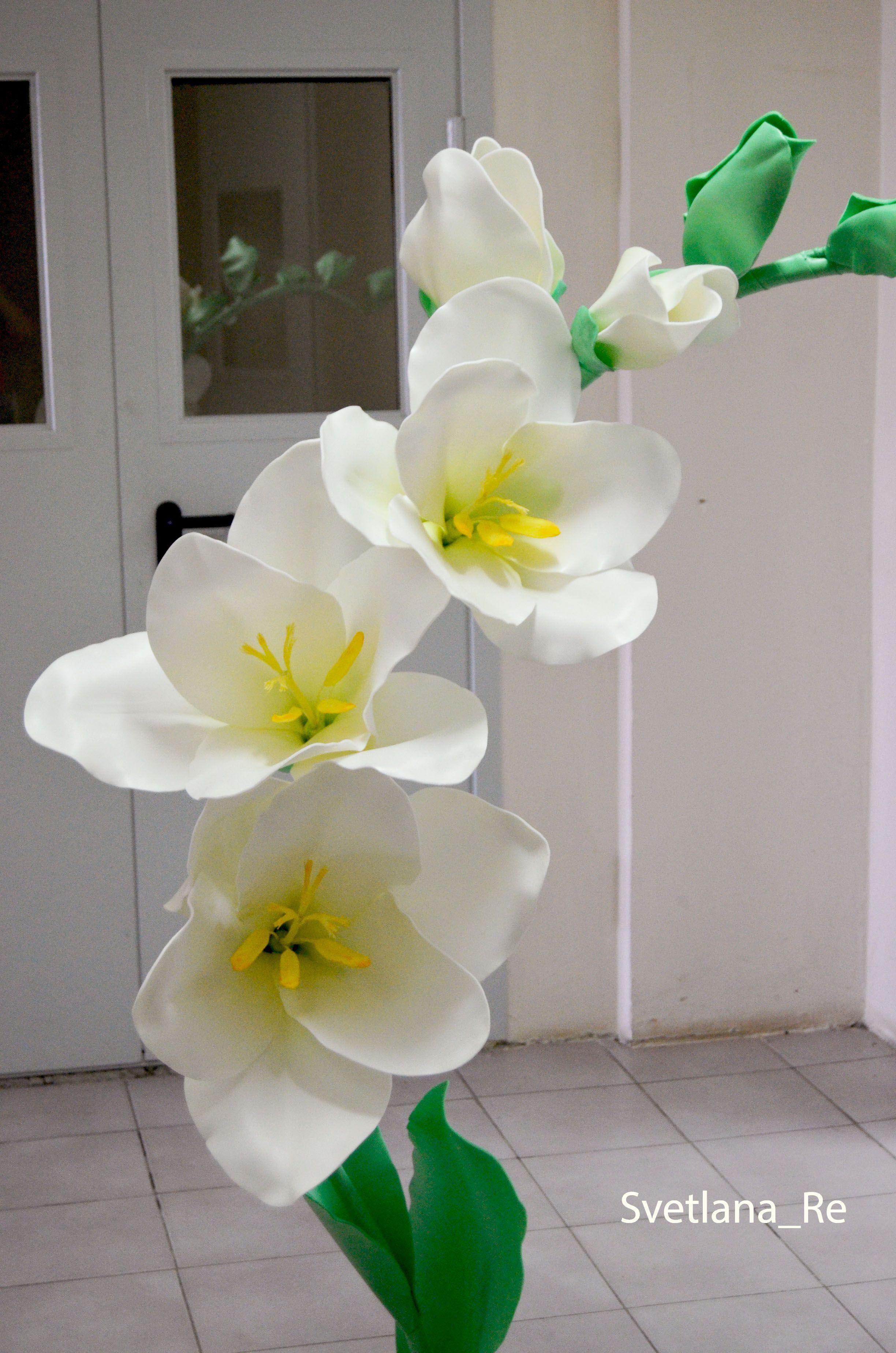 декор фрезии куст украшение ветка праздник интерьер фоамиран изолон цветы свадьба