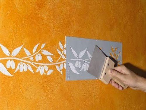 Трафареты для декора стен своими руками 4