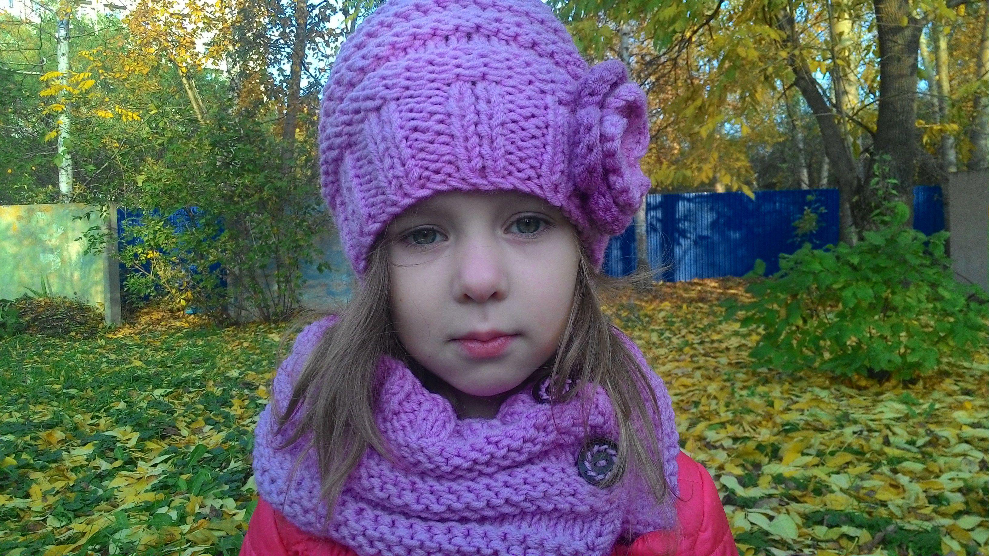 Вязание спицами детский снуд 26