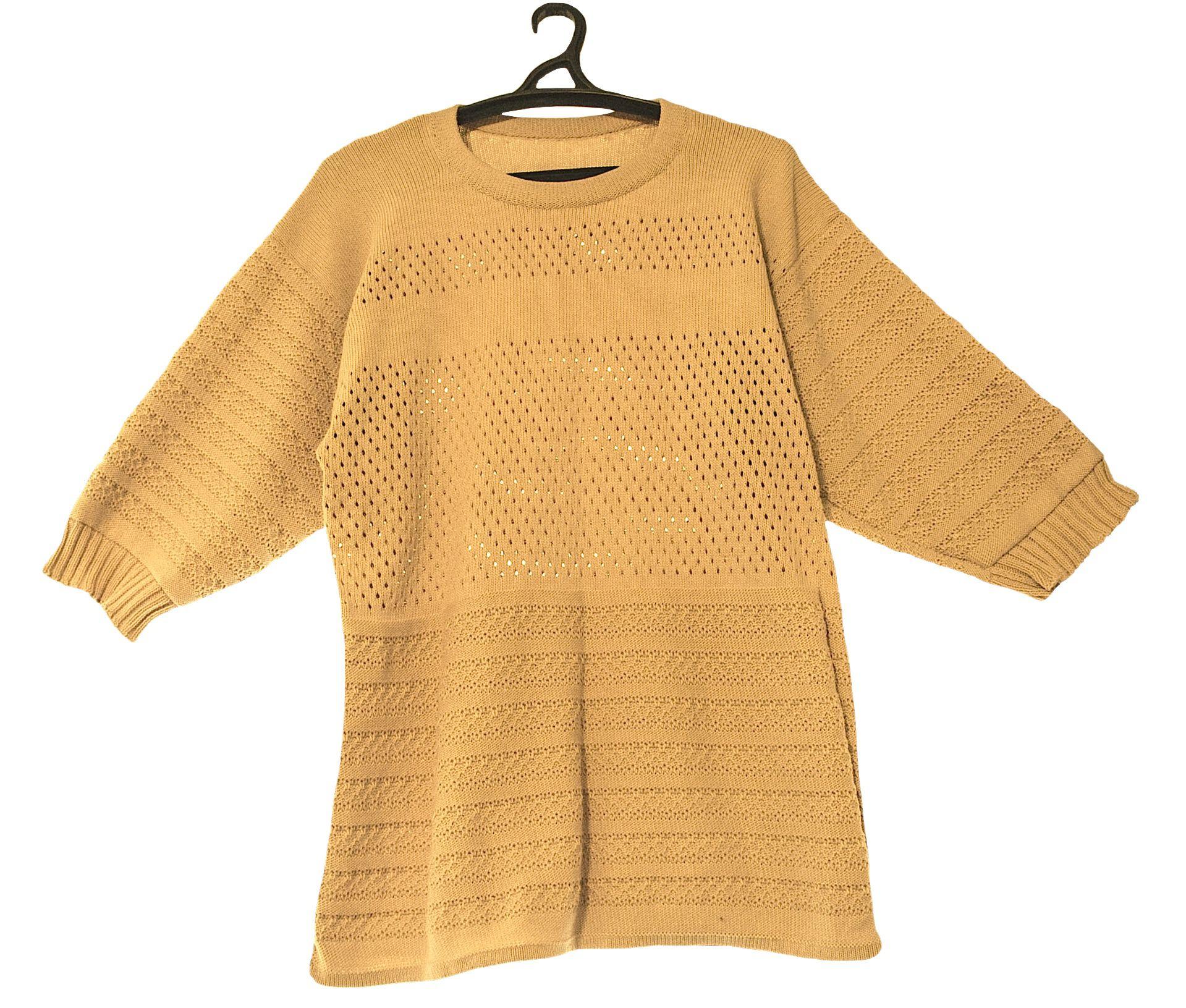 однотонный хлопка туника машинное вязаный вязание из на бежевый заказ мужской свитер