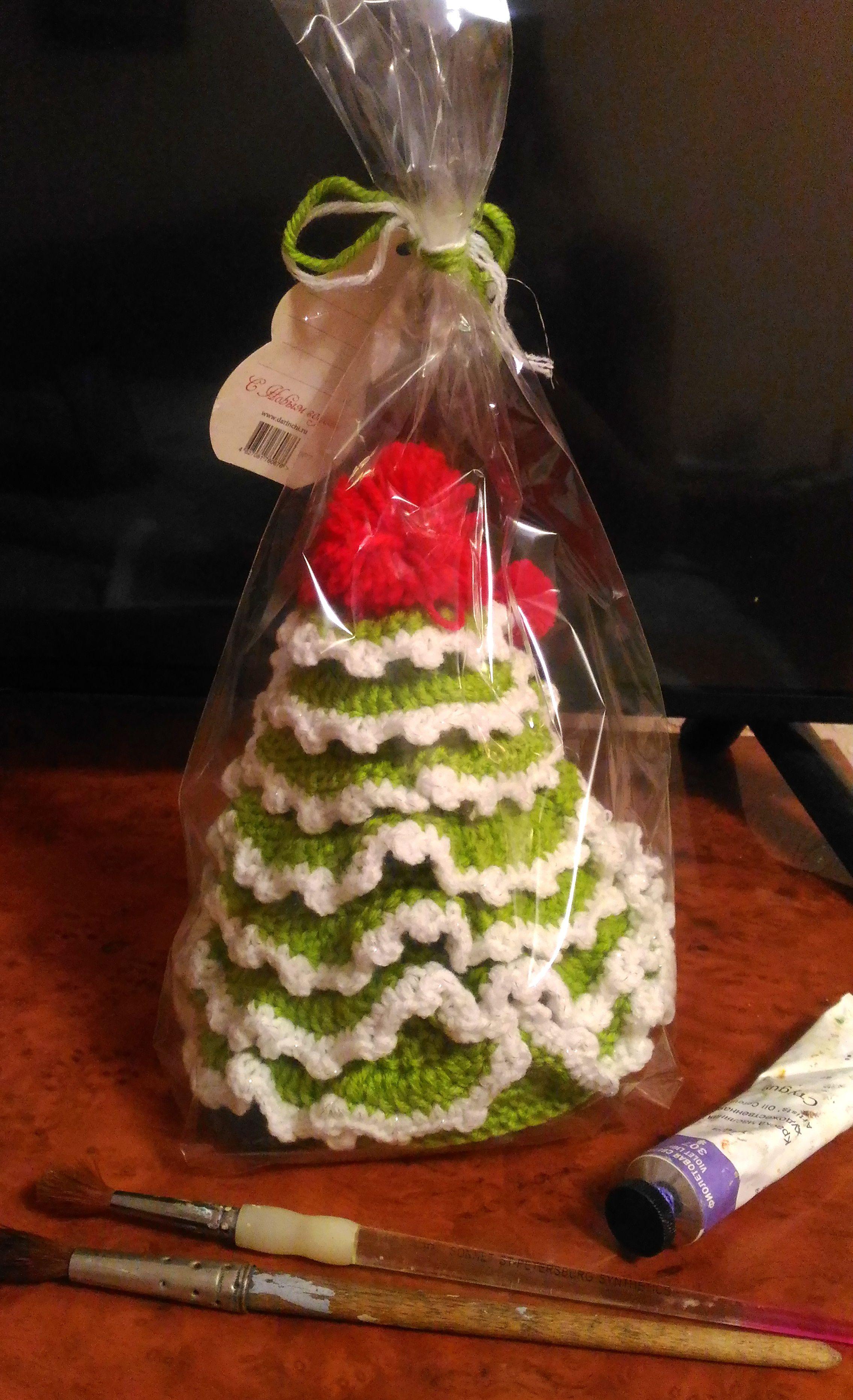 подарки ручная рабата ель прздник для детям работа рождество вязаная новый год текстиль пряжа продажа дома купить елка