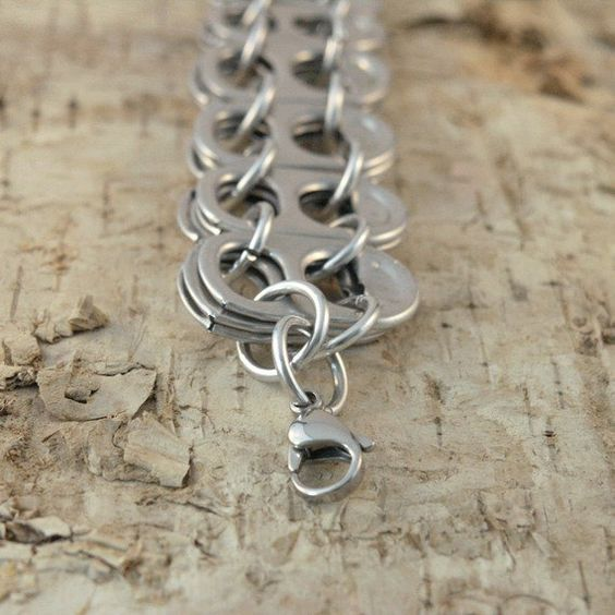 ключей банок от переработка алюминиевых браслет из идеи руками своими