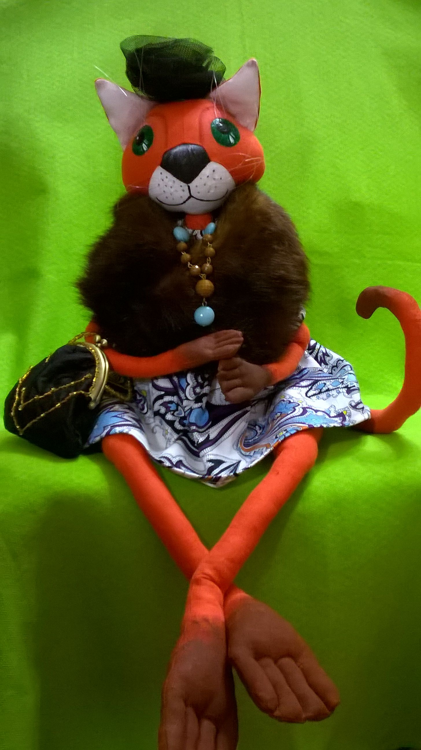 авторская кукла работа кошка ручной работы