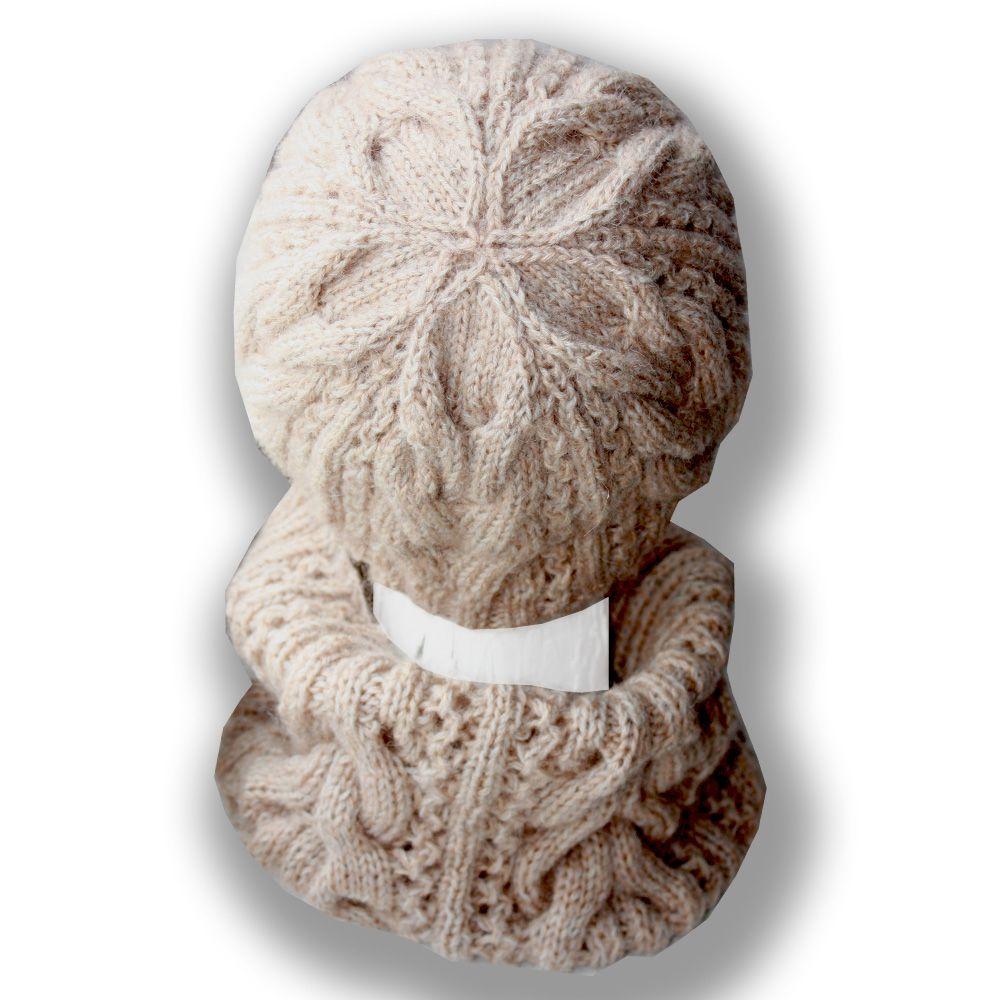 продажа детские комплекты без снуд спицами шапки вязаные работа женские универсальный удобный ручная швов бежевый аксессуары детям серый шапочка и шарфы практичный теплый купить шляпы связанное зимний
