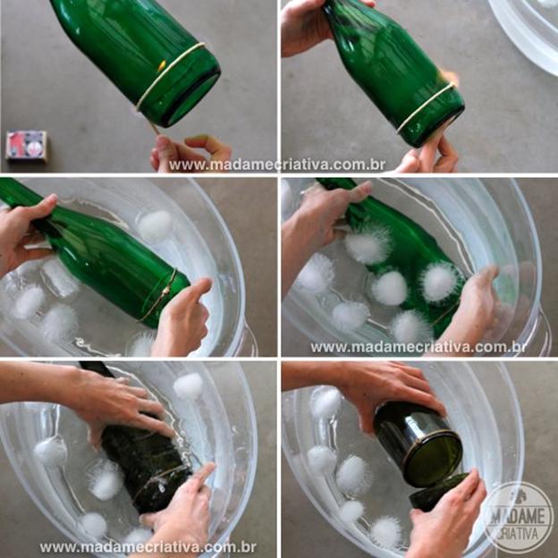 руками из декор бутылок подсвечник стеклянных своими
