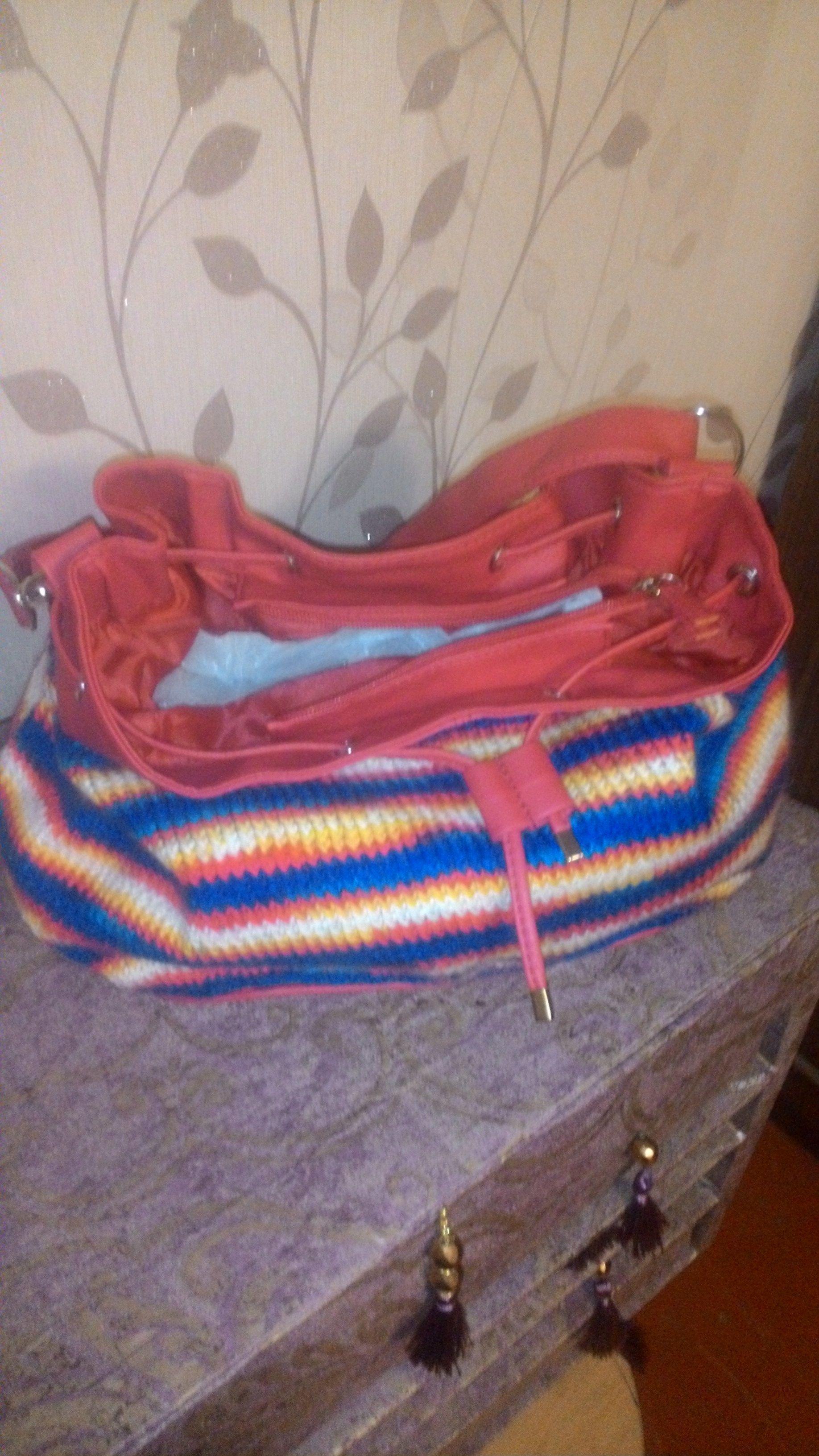 вязание модно сумка необычно спицы уютно тепло