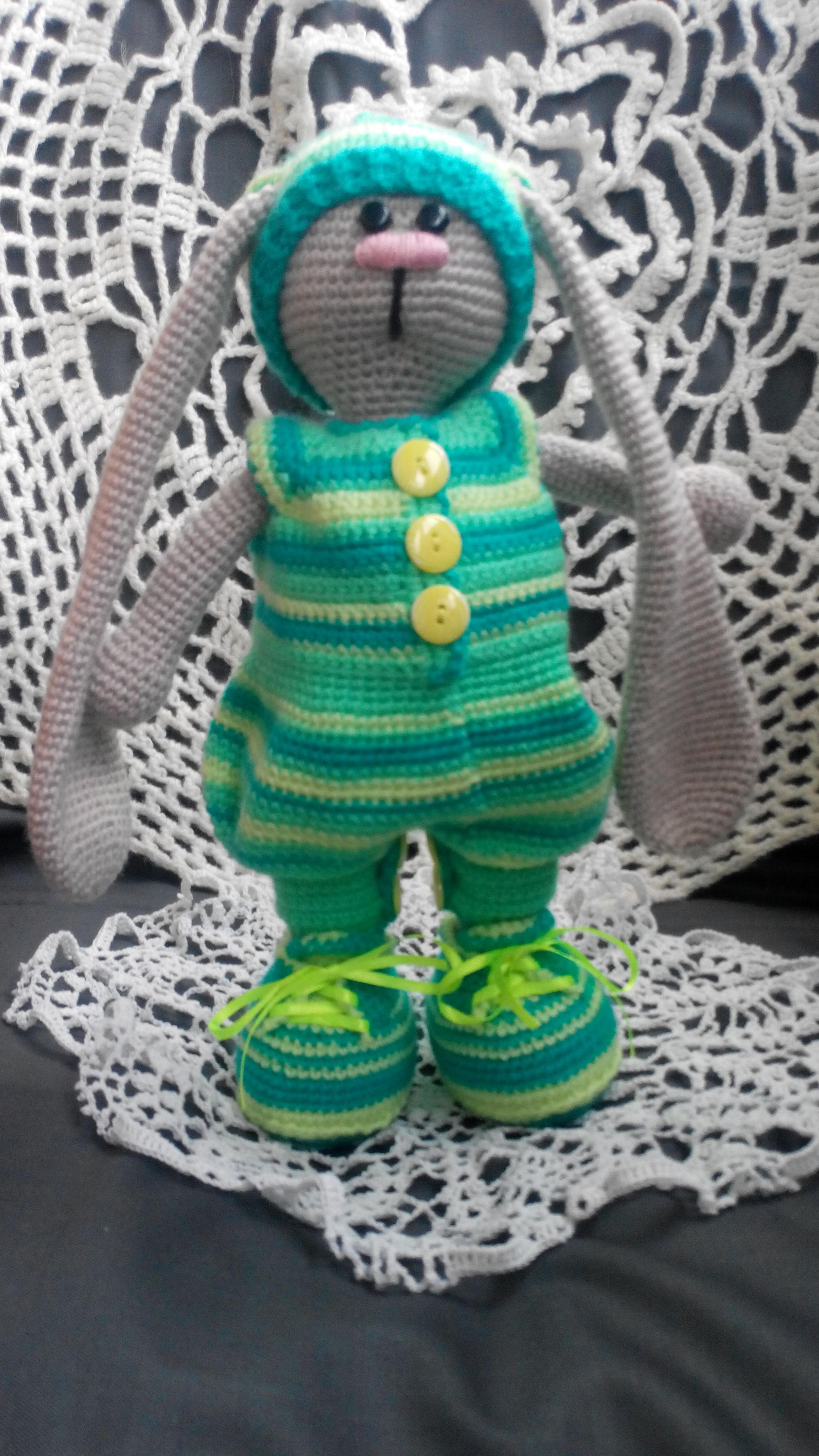 заяц handmade игрушки вязанные ручная работа вязанный