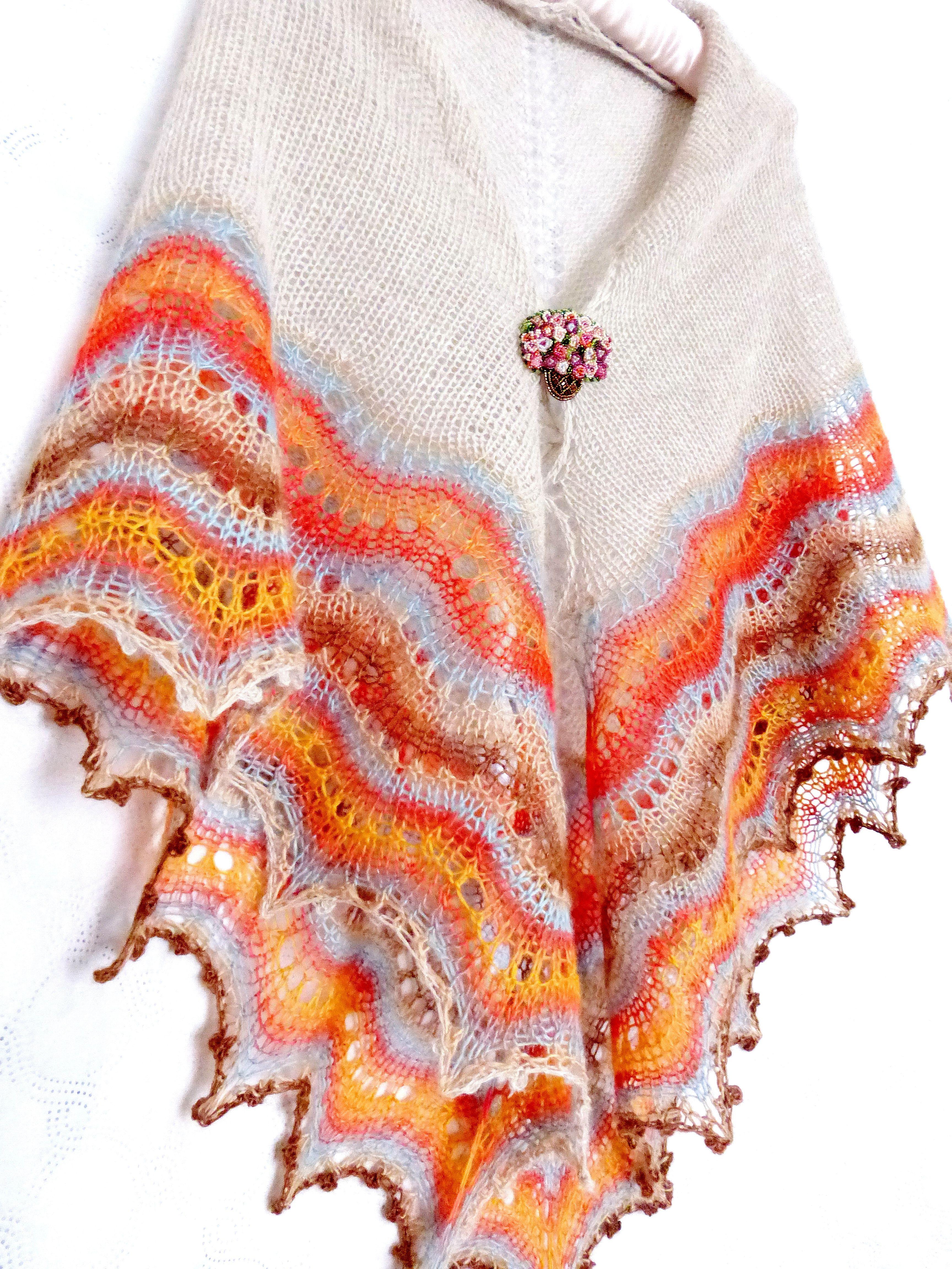 вязанаяшаль ажурнаяшаль шаль шарф вязаная шерсть накидка вязание подарок палантин ажурная платок