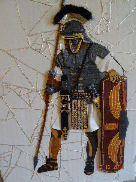 легионер древнийрим мозаикаизкожи