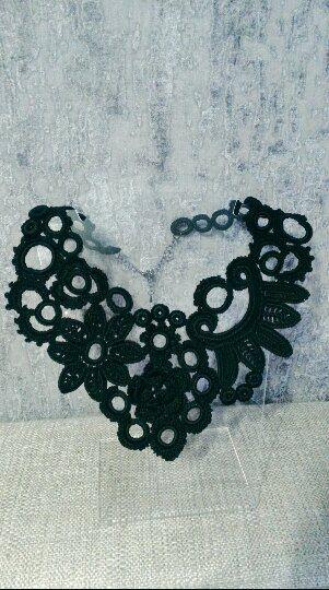 колье ирландское ручная кружево винтаж hand madeаксессуары работа украшение