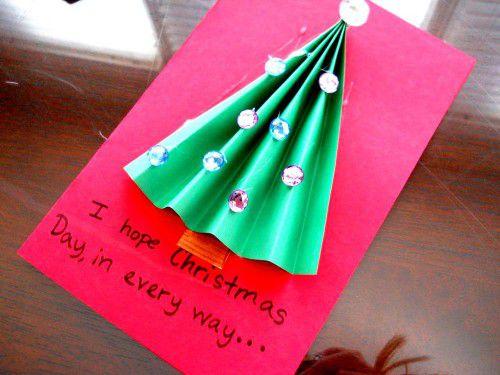 Новогодние открытки своими руками 10