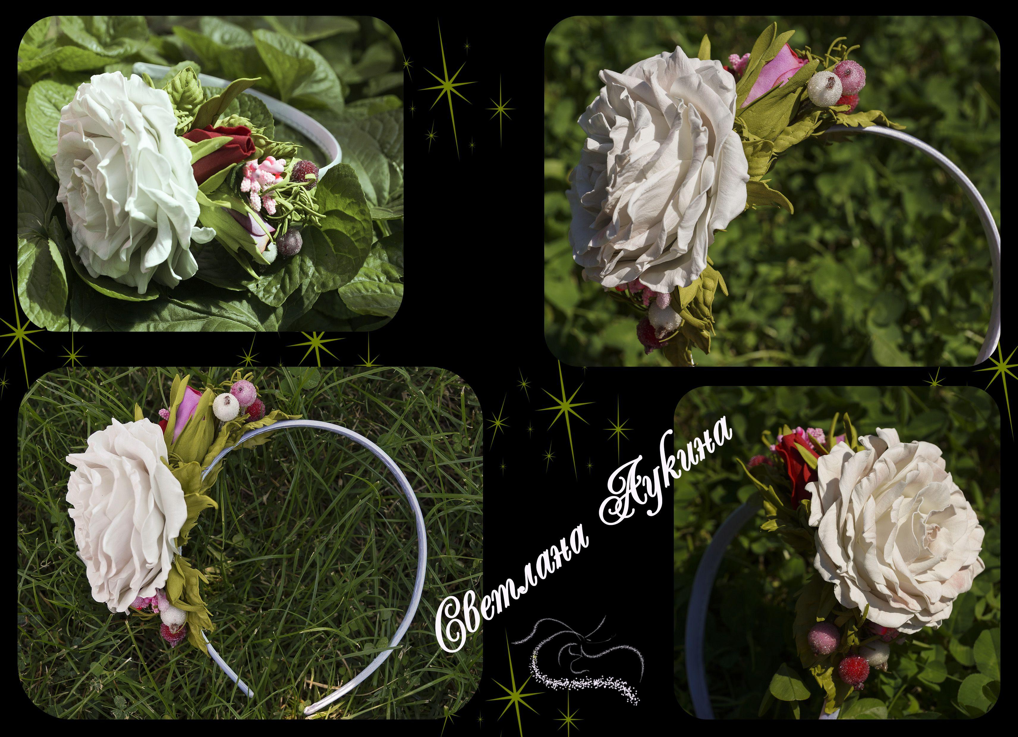 фоамирана цветами ободок из с