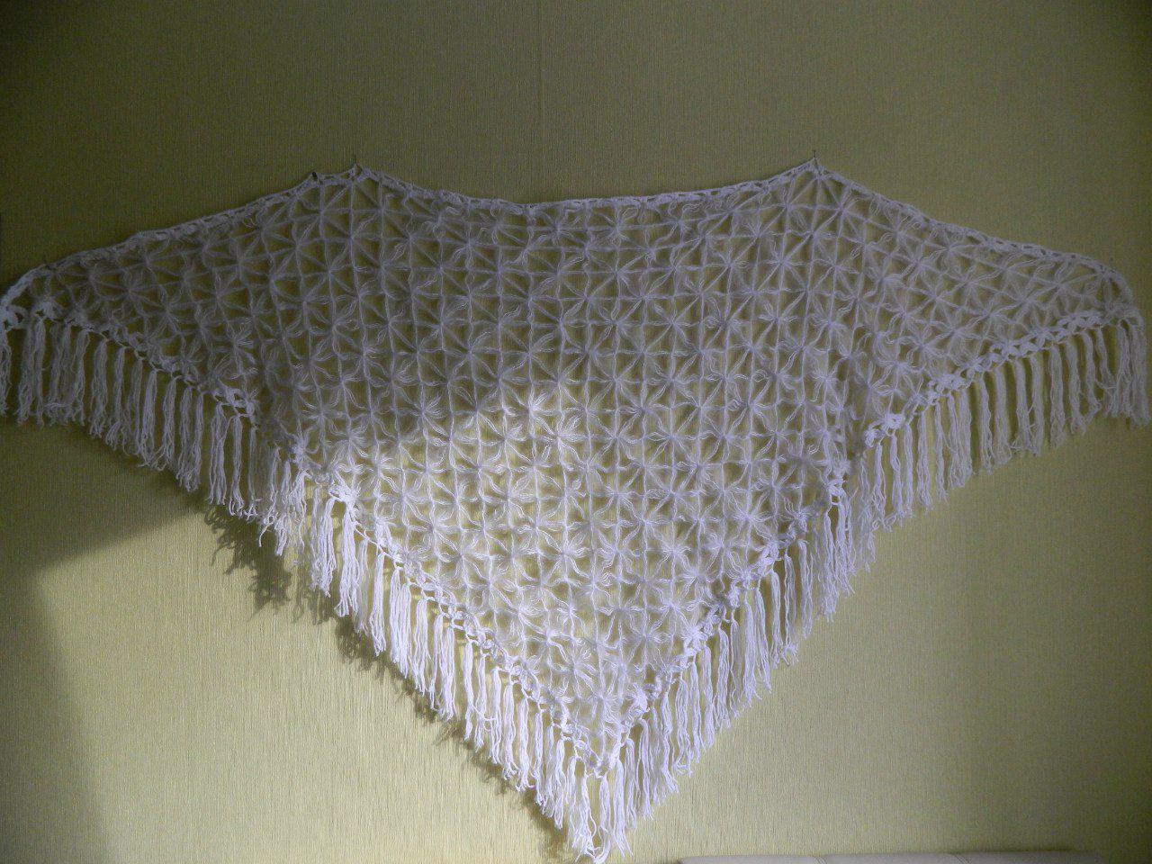 плетение вязание шаль