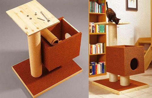 Домик для кошки своими руками 7