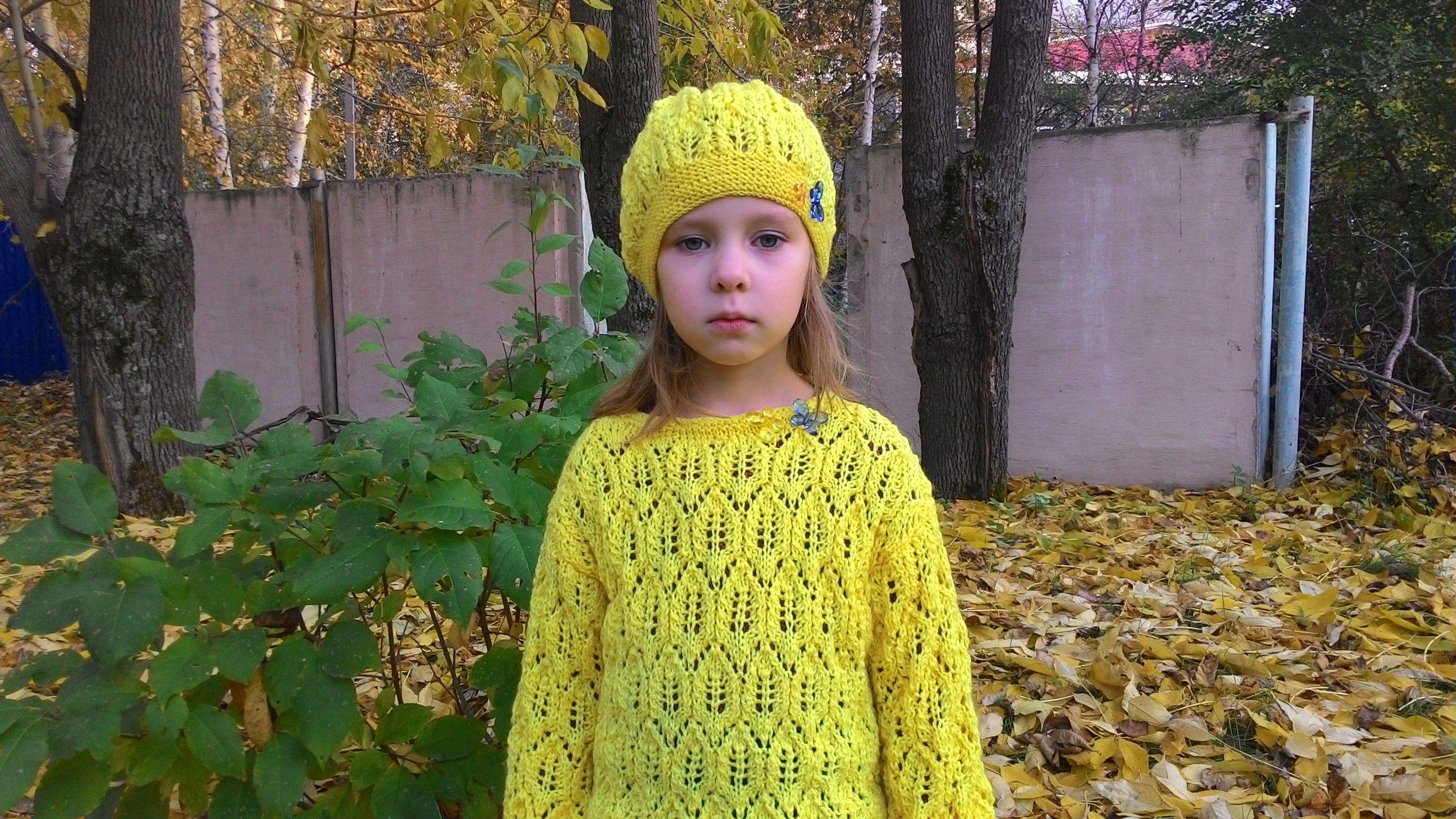 вязание шапки детские детская яркие для ажурный осенние одежда девочек берет спицами