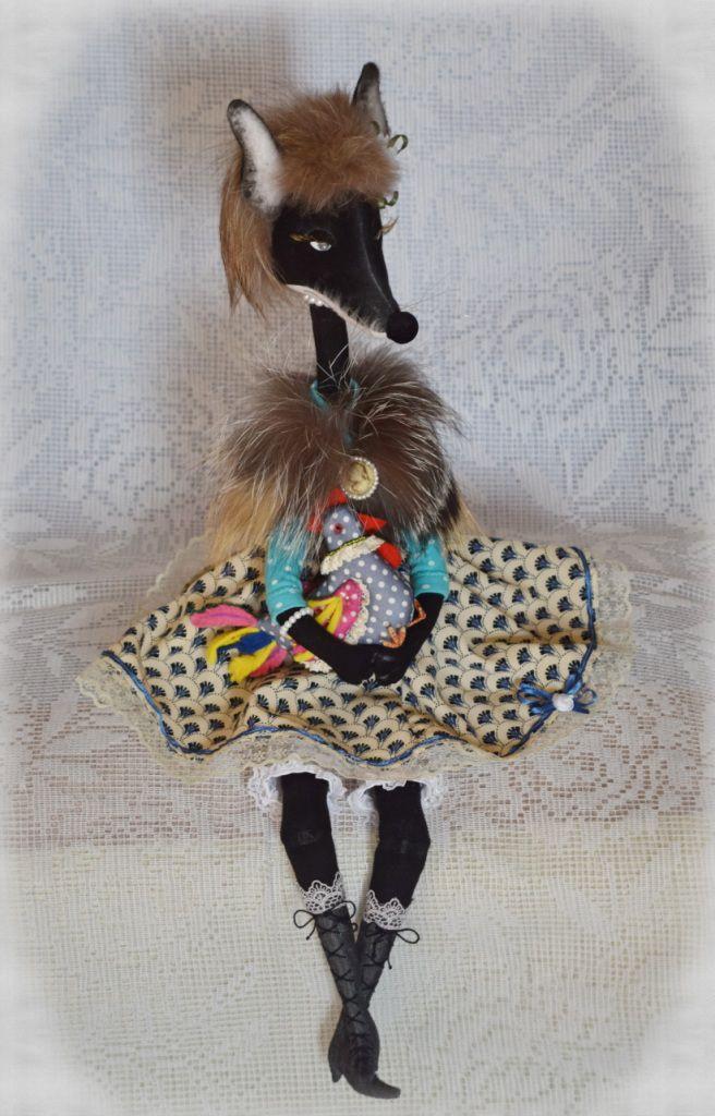 ручнаяработа радость игрушка интерьернаяигрушка декор купитьподарок сувенир hendmade лиса авторскаякукла подарок своимируками текстильная