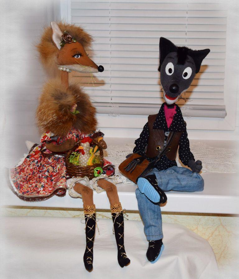 волк радость игрушка ручнаяработа декор текстиль купитьподарок сувенир hendmade авторскаякукла подарок своимируками
