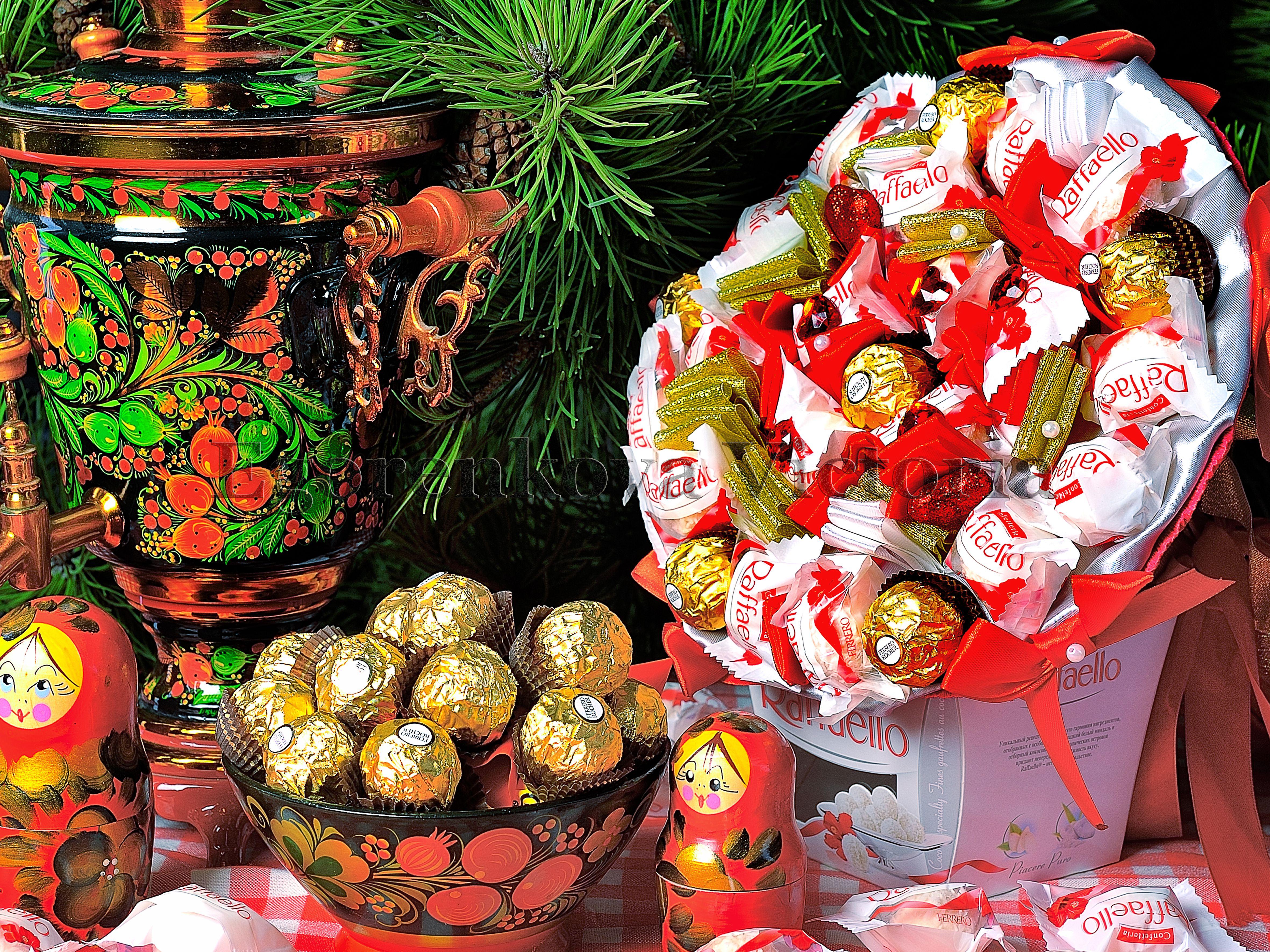 букет ручная конфеты дети подарок