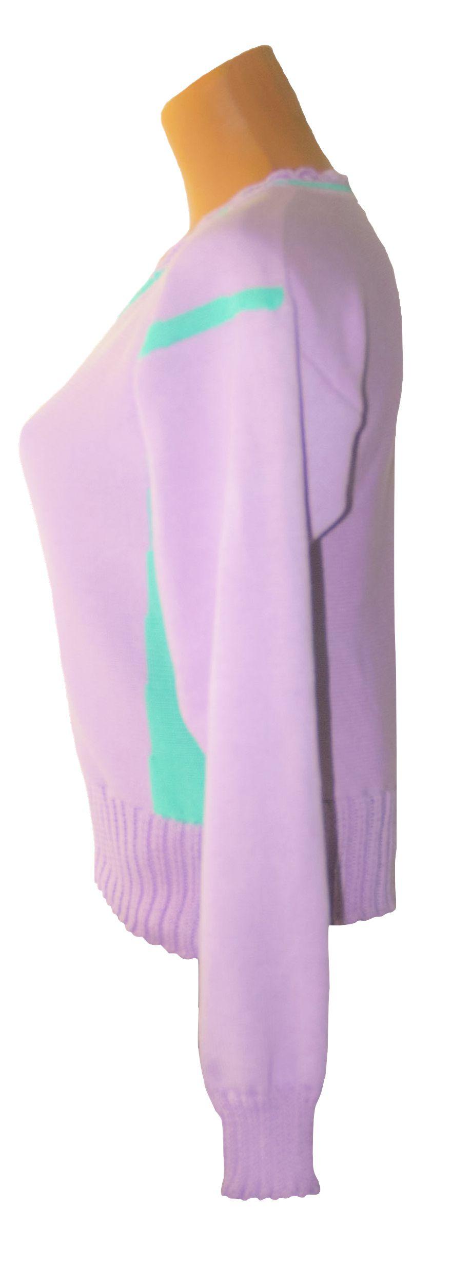 джемпер вязаный вязание женский дизайн авторский бледно-сиреневый однотонный машинное