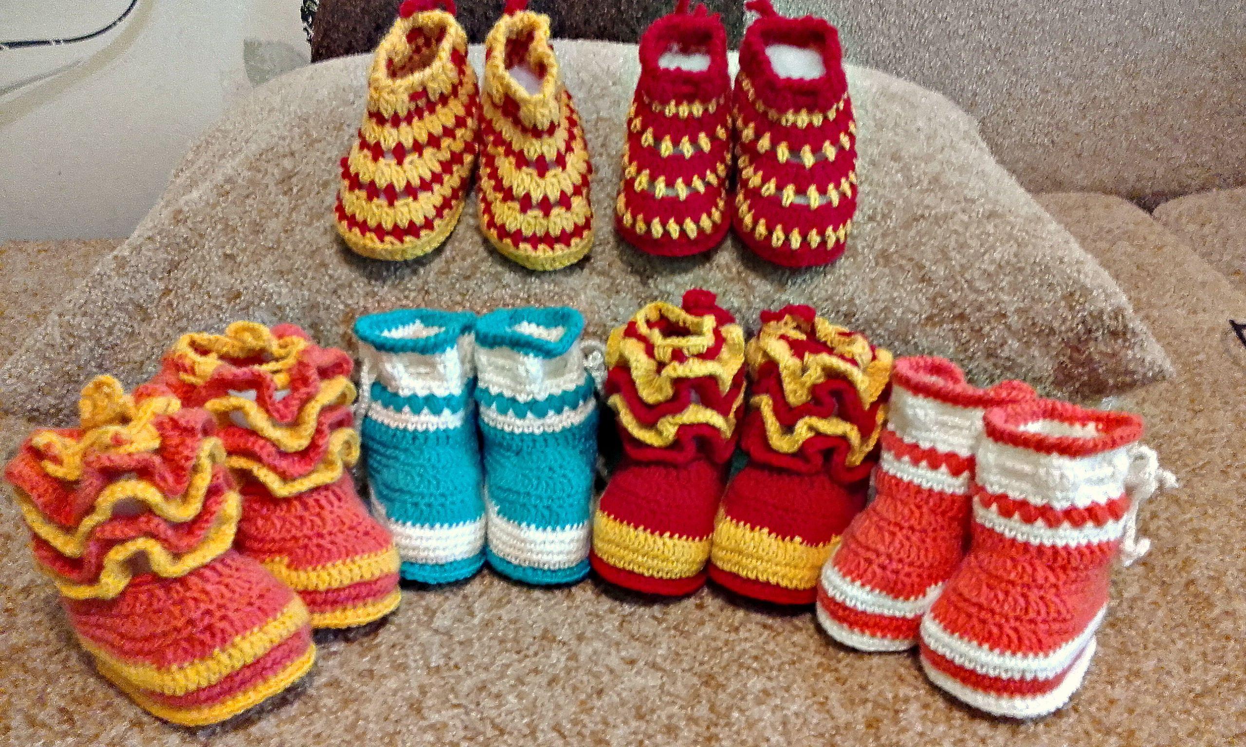 пинетки детей новорождённые малышикрасивыевязание подарок