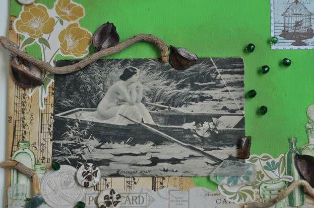 винтаж мастеркласс интерьер коллаж картина