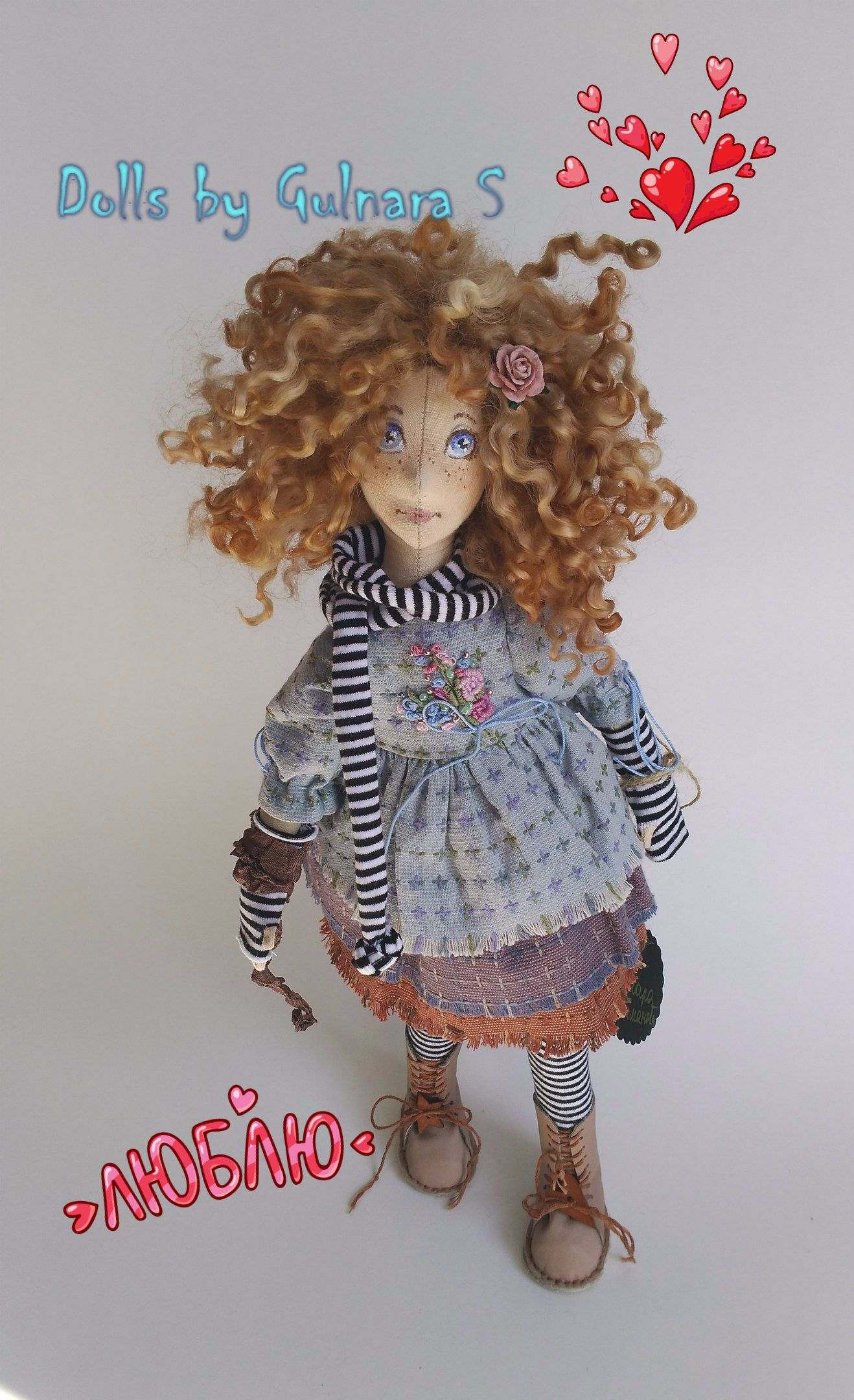 tilda подарок кукла купить работа коллекционная розовый коллекционнаякукла ручная куклыгульнары надо каркасная гульнары серый голубой тильда handmade красивые куклы текстильнаякукла