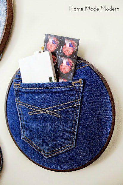переделки джинсы дома рабочего местахранение организация старые для поделки органайзер идеи руками своими сделай сам