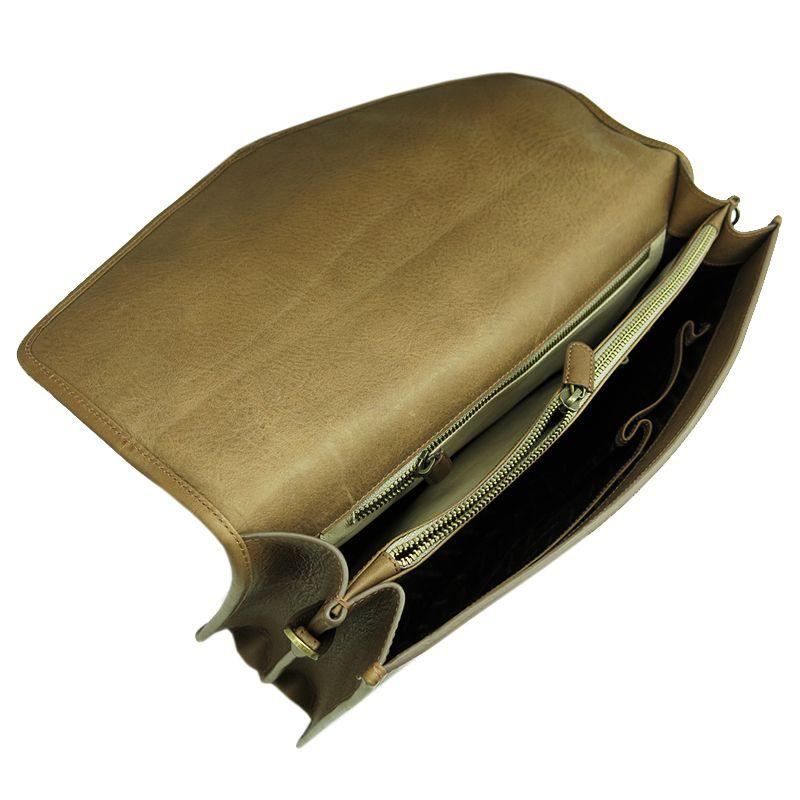 мужской кожаный handmade cangurione портфель
