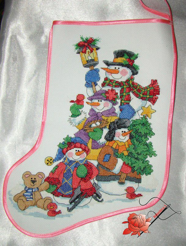вышивка подарки handmade сапожок ручная эксклюзив работа новыйгод