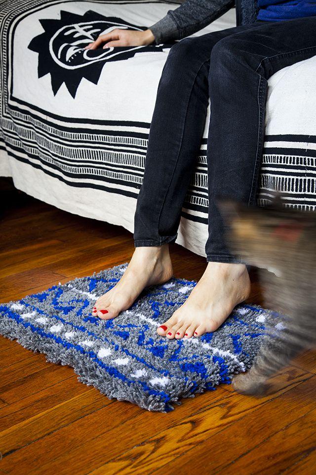 коврик интерьер уют пряжа дом винтаж