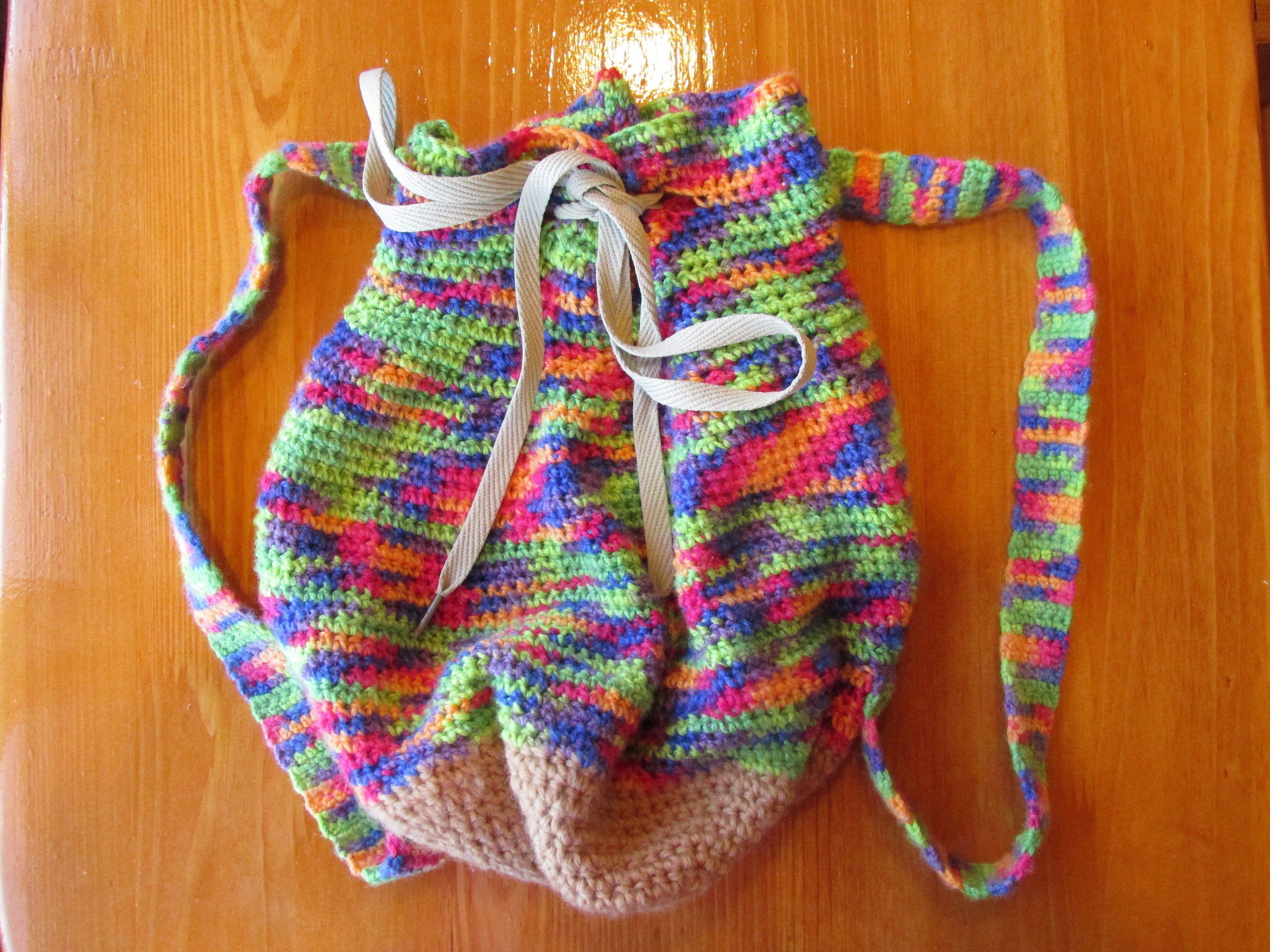 Рюкзак для девочки крючком