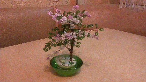 бисера дерево из